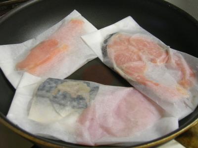 魔法の包み焼きシートで焼く漬け魚