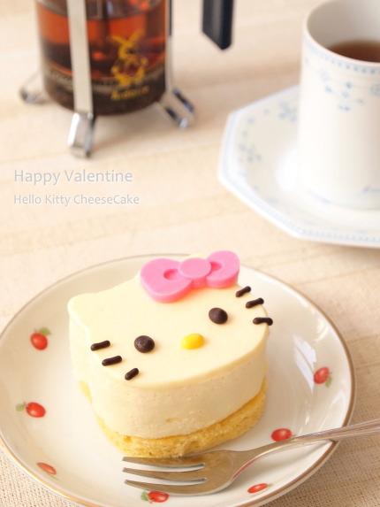 バレンタイン ハローキティ チーズケーキ