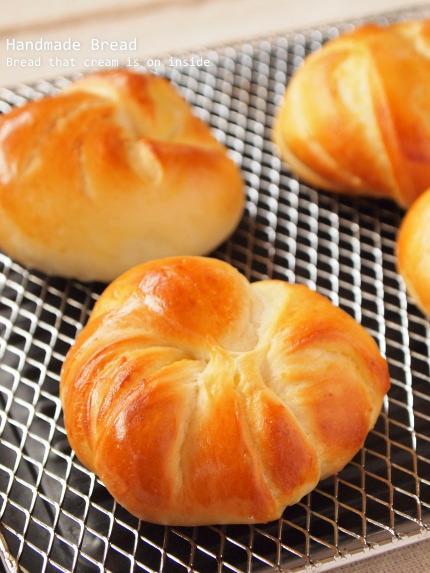 手作りパン クリームパン