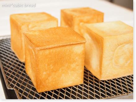 ミニキューブ型で作った食パン