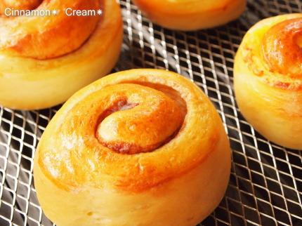 手作りパン シナモンロール、クリームロール