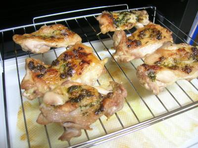 ヘルシーシェフで作る鶏のハーブ焼き
