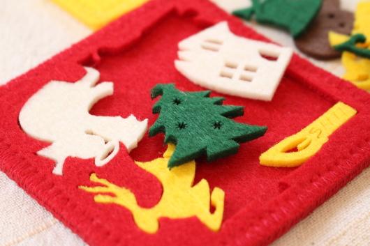 スタディオクリップ クリスマスパズルコースター